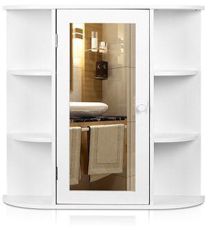 HOMFA Bathroom Wall Cabinet Multipurpose Kitchen Medicine Storage Organizer with Mirror Single Door Shelves,White Finish for Sale in La Mirada, CA