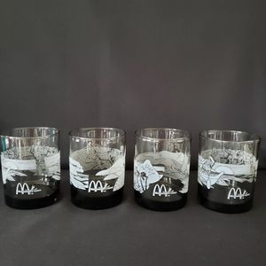 McDonald's Vintage Hawaii Glasses Set of 4 Collectors Edition Low Ball Tiki for Sale in Turlock, CA