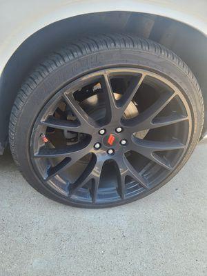 Matt Black SRT Replica 22 inch Rims 5 Lugz for Sale in Fort Worth, TX