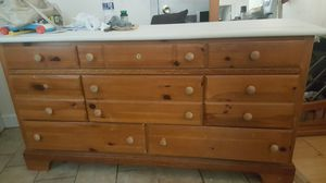 Dresser with mirror-still smell the wood in so side By Vahn- for Sale in Virginia Beach, VA