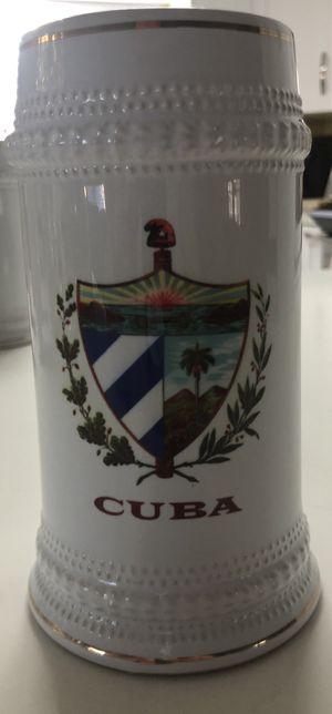 Cuba flag ceramic beer stein A7 for Sale in Miami, FL