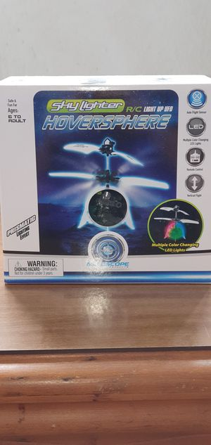 Drone Mindscope Sky Lighter R/C Light Up UFO Hoversphere/ mini drone for Sale in St. Clair Shores, MI