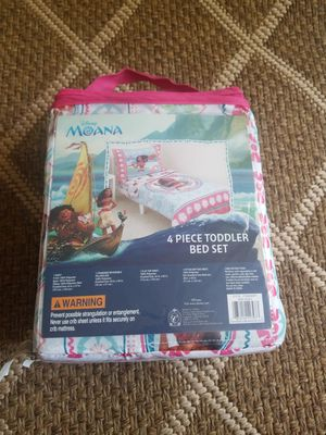 Moana 4 pc Toddler Bed Set for Sale in Decatur, GA