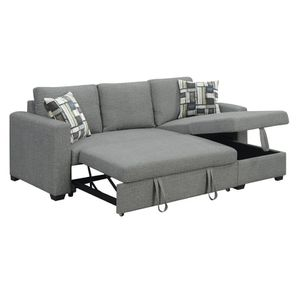 """Comfortable Sofa Hendrick 88.6"""" Pull Out Reversible Sleeper Sectional for Sale in Walnut, CA"""