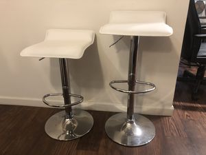 Stainless steel, White Leather bar stools for Sale in Austin, TX