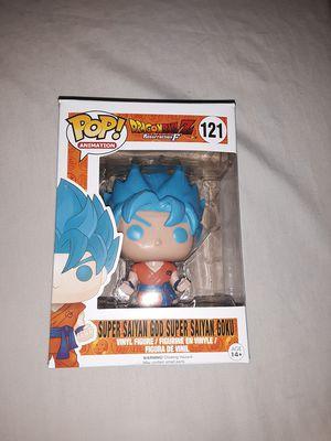 Funko Pop Dragonball Z Resurrection F Super Saiyan God Super Saiyan Goku Blue Hair for Sale in Hazelwood, MO