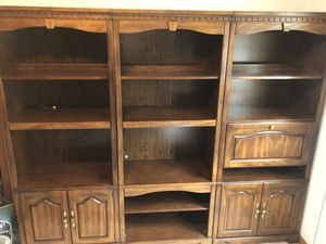 3 piece Solid Wood Wall Lighted Shelving Units for Sale in Stoughton, MA