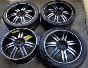"20"" INCH AFTERMARKET WHEELS RIMS WITH TIRE for Sale in Fort Lauderdale, FL"