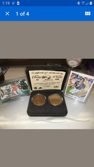 Rare john elway terrel davis coin set only 2500 made for Sale in GA, US