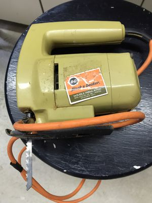 Jig saw black and decker for Sale in Sharon, MA