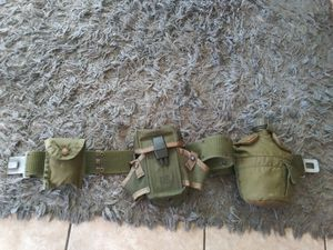 Collectibles.Vintage Army Green Belt Miiltary with 3 attachments.nice!! for Sale in Lincoln Acres, CA