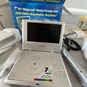 """Initial Portable DVD Player - 7"""" Wide Screen Model IDM-1731 - Works Great! for Sale in Silver Spring, MD"""