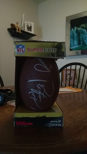 Payton and Eli Manning Autographed Football for Sale in Evansville, IN