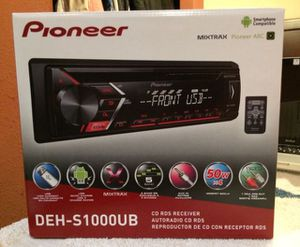 Pioneer DEH-S1000UB In-Dash AM/FM/CD/USB Receiver for Sale in San Francisco, CA