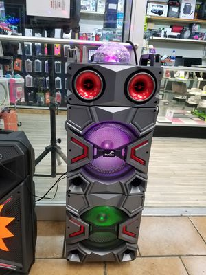 Bluetooth speaker with led lights and microphone for Sale in Houston, TX