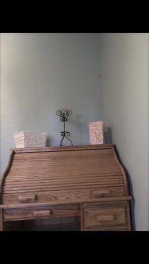 Wooden antique desk for Sale in Hemet, CA