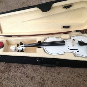 Brand new Maple Wood Violin with An Elegant White Finish for Sale in Mt. Juliet, TN