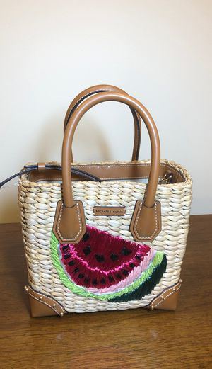 Michael Kors Malibu Medium Woven Messenger Watermelon New With Tags for Sale in Lorton, VA