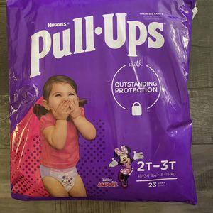 Huggies pull ups 2t-3t and 4t-5t $6 each pack for Sale in San Bernardino, CA