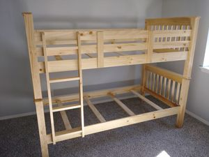 Twin & Twin bunk bed natural color for Sale in Puyallup, WA