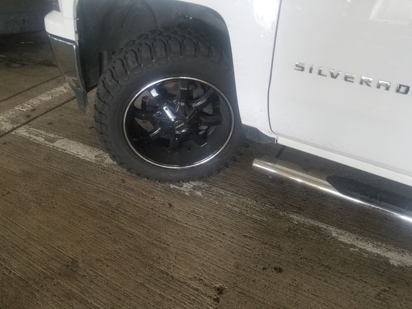 """Sale or trade for chrome 22's or maybe 20's 33.5x20 """" 6 lugs"""
