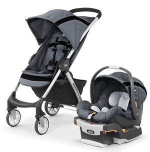 Chicco Mini Bravo Sport Travel System, Stroller Car Seat Baby Infant, Carbon for Sale in Tamarac, FL