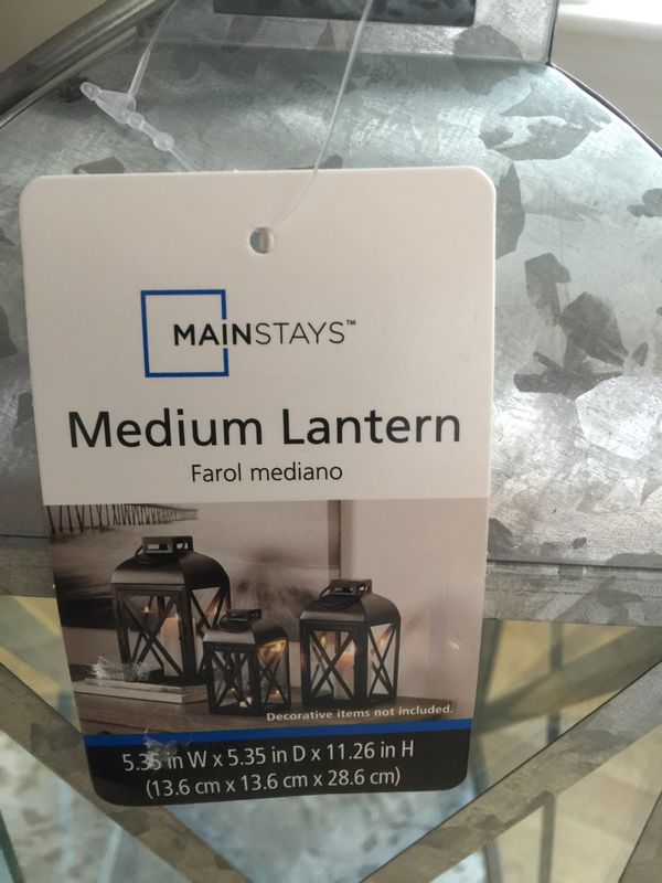 Brand new Galvanized Lantern Dimensions (L x W x H)5.36 x 5.36 x 11.26 Inches . (pick up only)