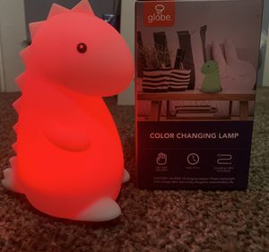 LED color changing lamp dinosaur for Sale in Pomona, CA