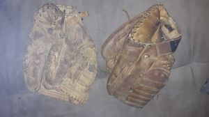 Two very old baseball gloves for Sale in St. Petersburg, FL