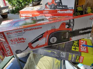 Homelite 16 in. 12 amp electric chainsaw for Sale in Mesa, AZ