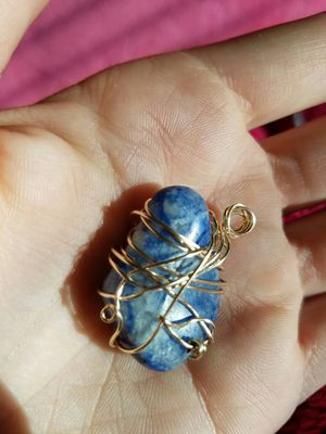 Blue quartz wire wrapped, handmade for Sale in Lake Mills, IA