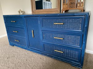 Vintage faux bamboo and wicker 5 pc dresser set *project for Sale in Thornton, CO