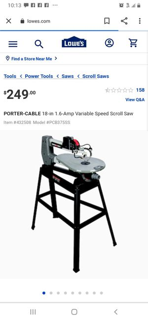 Porter Cable table saw model pcb375sss for Sale in Sun City, AZ