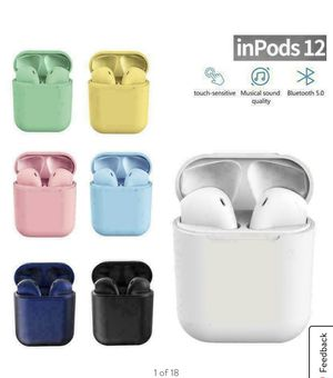 Inpods 12 True Bluetooth Headset Wireless Earbuds Inpod Headphones For IOS Android for Sale in Fullerton, CA