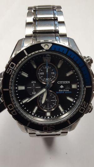 CITIZEN eco-drive promaster diver sliver tone watch 46mm for Sale in North Miami, FL