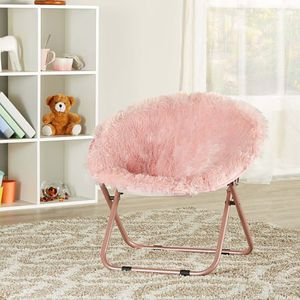 Mainstays Kids Blair Plush Faux-Fur Saucer Chair, Pink C11-9584 for Sale in St. Louis, MO