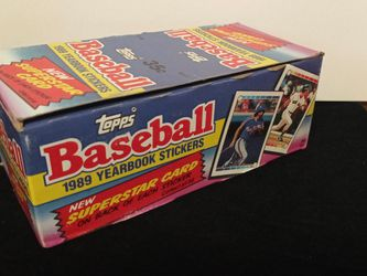 1989 Topps Baseball Sticker Complete Unopened Box 🔥 for Sale in Modesto,  CA