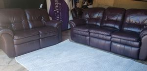 Leather sofa and loveseat All recline for Sale in Hudson, FL