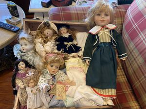 Antique porcelain dolls, Still Available! Comes With Case. for Sale in St. Peters, MO