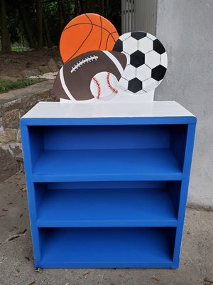 Sports Bookcase(New, Hand-Crafted, Wood) for Sale in Thornwood, NY