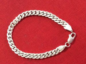 Solid sterling silver bracelet 8 inch / 10mm for Sale in Round Rock, TX