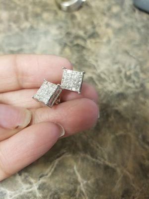 1ct princess cut diamond earrings for Sale in San Antonio, TX