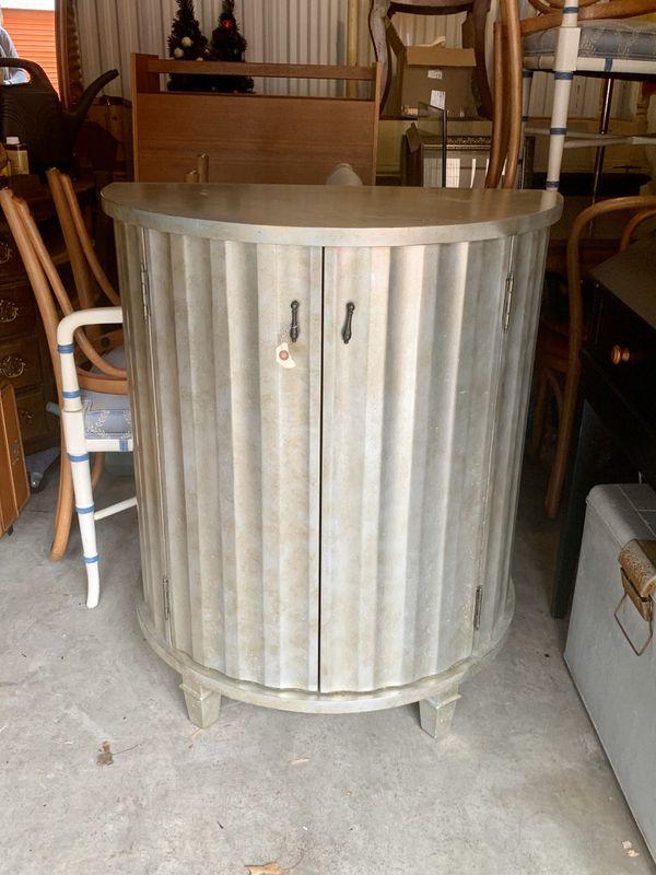 Silver Demilune Cabinet