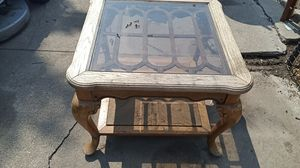 Glass top coffee table for Sale in Wichita, KS