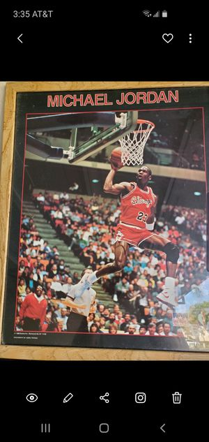 Classic Michael Jordan framed poster! for Sale in San Diego, CA