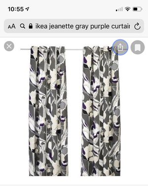 IKEA purple/gray curtains for Sale in VA, US