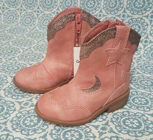 NEW Toddler Girls Cat & Jack Isabella Cowboy Boots Pink Size 5 for Sale in Orlando, FL