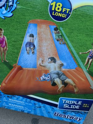 NEW TRIPLE WATER SLIDE WITH SPEED RAMP 18ft LONG 🔥 NEW IN BOX for Sale in Buena Park, CA