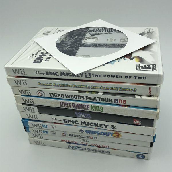 Nintendo Wii U Deluxe Bundle Set Lot