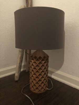 Wood lamps ( set of 2) for Sale in Costa Mesa, CA
